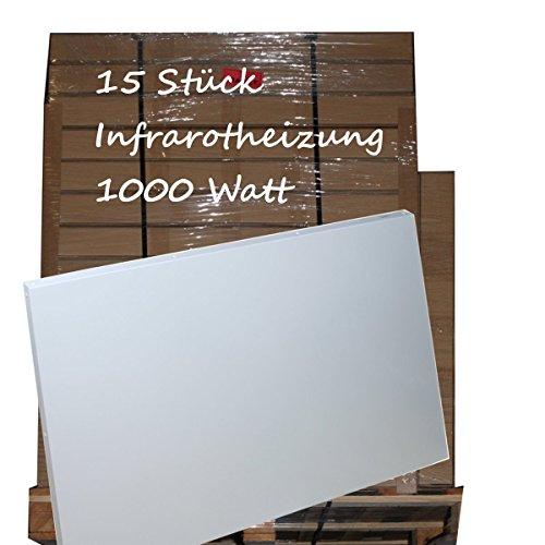 15x infrarotheizung 1000 watt kostenloser versand. Black Bedroom Furniture Sets. Home Design Ideas
