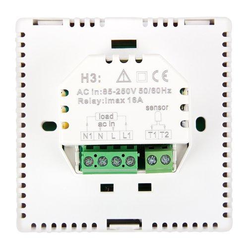 4x digital thermostat programmierbarer temperaturregler mit led screen fussbodenheizung. Black Bedroom Furniture Sets. Home Design Ideas
