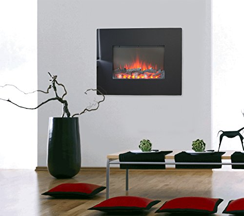 elektrischer kamin inkl fernbedienung elektrokamin mit simulierten led kaminfeuer wandkamin 2. Black Bedroom Furniture Sets. Home Design Ideas
