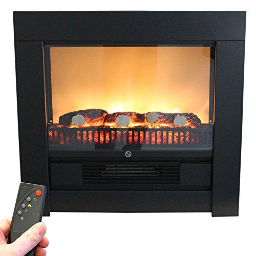 elektrokamin mit fernbedienung 1800w schwarz elektrischer kamin einbaukamin ofen mit. Black Bedroom Furniture Sets. Home Design Ideas