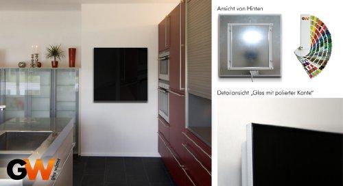 infrarotheizung infrarot 450 watt esg glas schwarz glasw rmt glasheizung. Black Bedroom Furniture Sets. Home Design Ideas