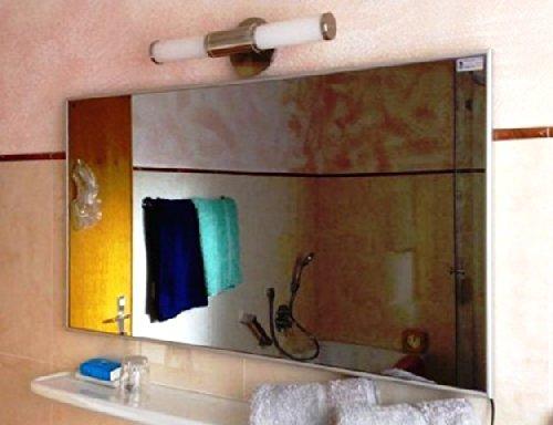 infrarotheizung spiegel mit aluminium rahmen 10mm 500. Black Bedroom Furniture Sets. Home Design Ideas