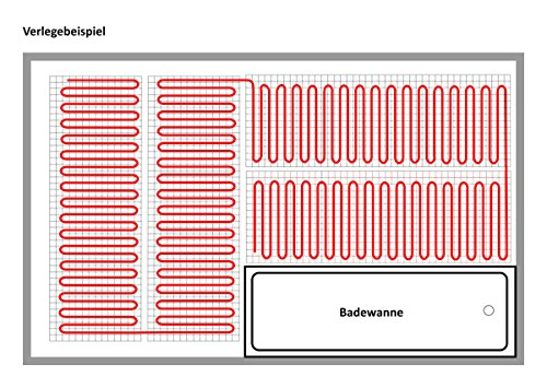 komplett set elektrische fu bodenheizung bz 200 digital 9 m 0 5 m x 18 m. Black Bedroom Furniture Sets. Home Design Ideas