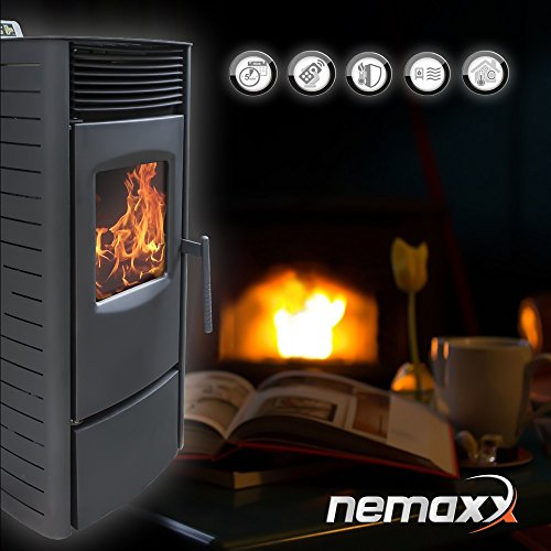 nemaxx p9 pelletofen pelletkamin pelletkaminofen 9 kw kaminofen heizofen pellet ofen kamin. Black Bedroom Furniture Sets. Home Design Ideas