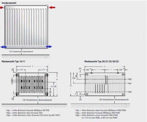buderus flachheizk rper c profil typ 22 600 x 2000 h he x l nge in mm heizk rper. Black Bedroom Furniture Sets. Home Design Ideas