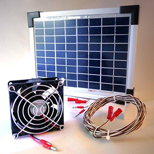 10 Watt Solarlüfter Solar Ventilator Klimagerät Belüfter Solarmodul Gartenhaus