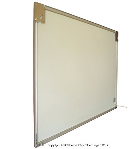 infrarotheizung glas mit bild und rahmen 400 watt motiv steine sand. Black Bedroom Furniture Sets. Home Design Ideas