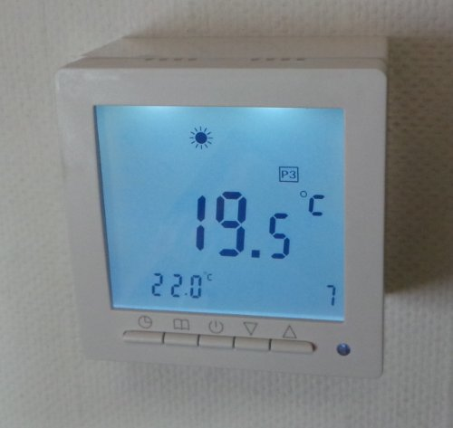 sm pc digital thermostat aufputz f r fussbodenheizung. Black Bedroom Furniture Sets. Home Design Ideas
