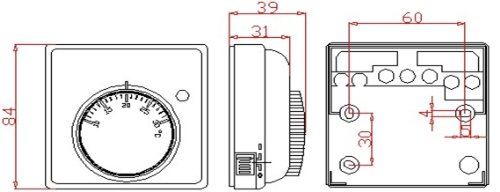 sm pc thermostat fu bodenheizung elektroheizung aufputz wei 740. Black Bedroom Furniture Sets. Home Design Ideas